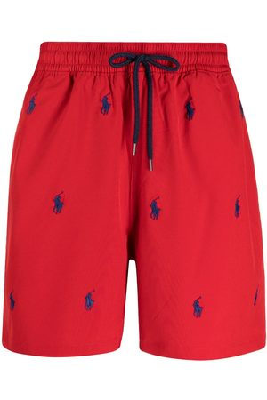Polo Ralph Lauren Men Board Shorts - Logo-embroidered drawstring swim shorts