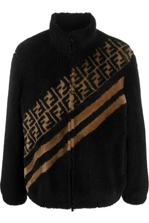 Fendi Men Leather Jackets - FF motif faux fur jacket