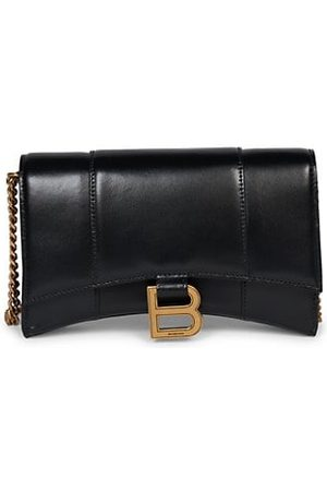 Balenciaga Hourglass Leather Wallet-On-Chain