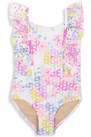 Shade Critters Baby Girl's & Little Girl's Floral Eyelet Multicolor One-Piece Swimsuit