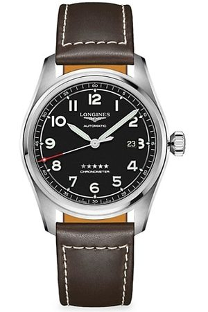 Longines Spirit Stainless Steel & Leather-Strap Watch