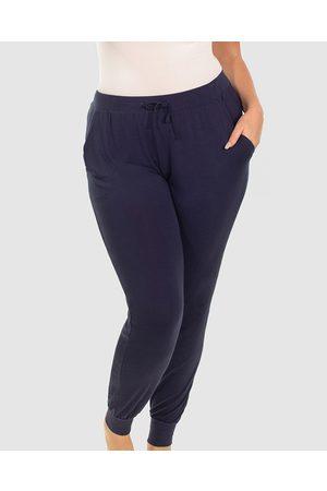 B Free Bamboo Draped Lounge Pants - Sleepwear (Navy) Bamboo Draped Lounge Pants