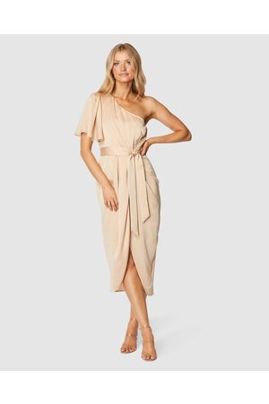 Pilgrim Cam Midi Dress - Bridesmaid Dresses (Sand) Cam Midi Dress
