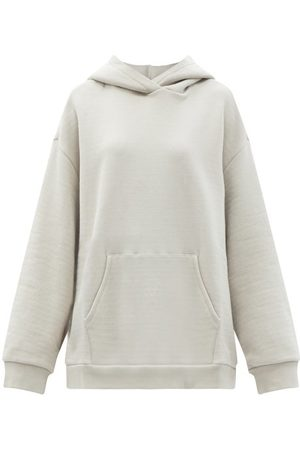 Raey Oversized Cotton-jersey Hooded Sweatshirt - Womens - Light