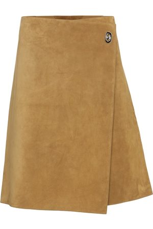 Bottega Veneta Suede wrap skirt