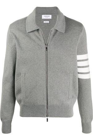 Thom Browne Men Jackets - Cotton knit zip jacket