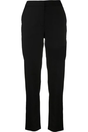 Armani Logo-patch cropped trousers