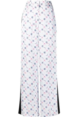 Karl Lagerfeld Women Formal Pants - Karl Tetris print tailored trousers