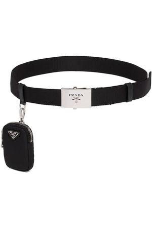Prada Men Belts - Pouch detail logo belt