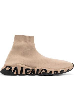 Balenciaga Logo-print ankle-length sneakers