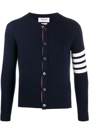 Thom Browne Men Sweatshirts - 4-Bar crew neck cardigan