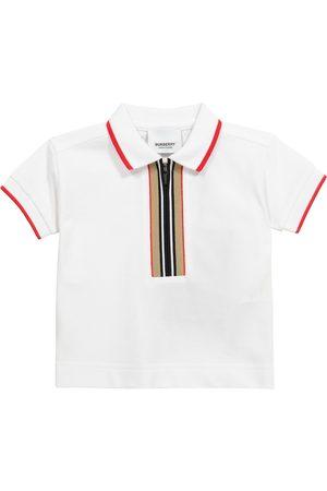 Burberry Kids Baby Icon Stripe cotton piqué polo shirt