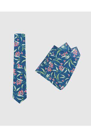 Buckle Men Neckties - Ali Wilkinson Tie & Pocket Square Set - Ties (Teal) Ali Wilkinson - Tie & Pocket Square Set