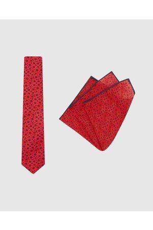 Buckle Jocelyn Proust Tie & Pocket Square Set - Ties (Navy) Jocelyn Proust - Tie & Pocket Square Set