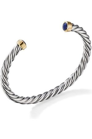 David Yurman Cable Classic Sterling , 18K Yellow Gold & Lapis Lazuli Cuff Bracelet
