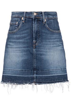 7 For All Mankind High-rise denim miniskirt