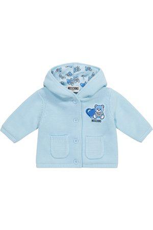 Moschino Kids Baby hooded cotton cardigan
