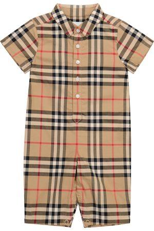Burberry Kids Baby Vintage Check cotton onesie