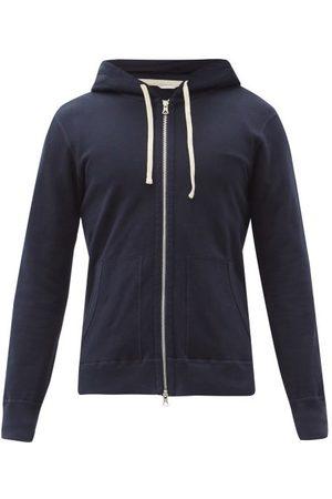Reigning Champ Men Hoodies - Zipped Cotton-terry Hooded Sweatshirt - Mens - Navy