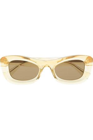 Bottega Veneta Eyewear Sunglasses - Transparent rectangle-frame sunglasses