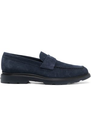 Hogan Strap-detail suede loafers