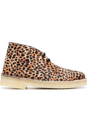 Clarks Women Boots - Leopard-print desert boots