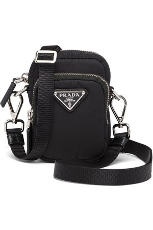 Prada Enamel logo pouch bag