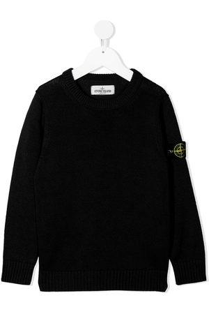 Stone Island Junior Boys Sweaters - Logo-patch cotton jumper
