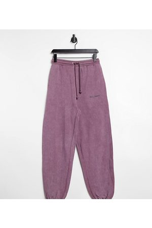 Collusion Unisex oversized trackies in purple acid wash co-ord