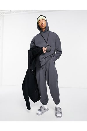ASOS DESIGN Co-ord heavyweight oversized hoodie in washed black