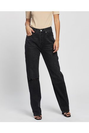 Ziggy Denim Women Bootcut & Flares - Straight Up Relaxed Jeans - Slim (Ashes To Ashes Trash) Straight Up Relaxed Jeans