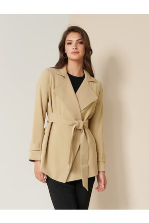 Forever New Beatrice Cropped Trench Jacket