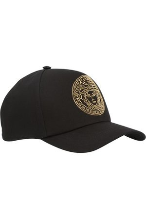 Versace Men Caps - Medusa studded cap