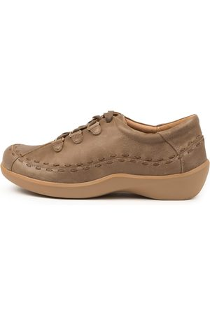 Ziera Allsorts Xw Zr Taupe Shoes Womens Shoes Casual Flat Shoes