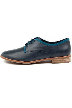 Django & Juliette Women Casual Shoes - Bronston Dj Navy Turquoise Shoes Womens Shoes Casual Flat Shoes