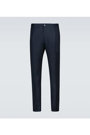 Dolce & Gabbana Double-pleated linen pants
