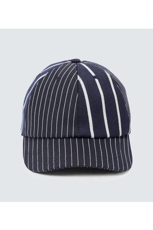 Thom Browne Men Caps - Pinstriped baseball cap