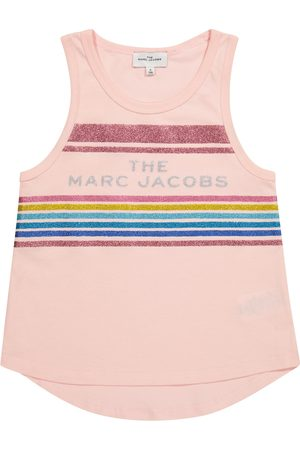 The Marc Jacobs Girls Tank Tops - Logo glitter cotton tank top