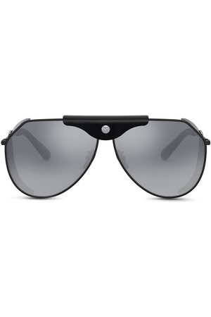 Dolce & Gabbana Men Sunglasses - Logo-plaque goggle-frame sunglasses