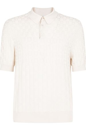 Dolce & Gabbana Men Polo Shirts - Jacquard-woven silk polo shirt