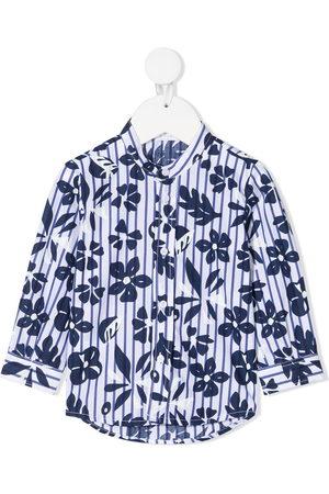 Il gufo Floral-print cotton shirt