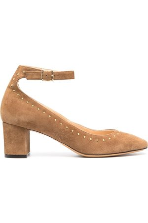 Tila March Women Heels - Rounded stud leather pumps