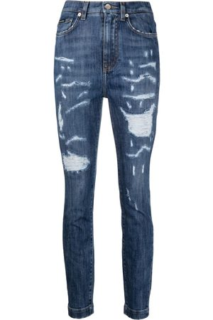Dolce & Gabbana Ripped high-waisted skinny jeans
