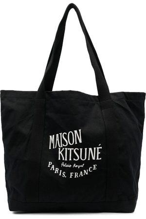 Maison Kitsuné Logo-print shopper bag