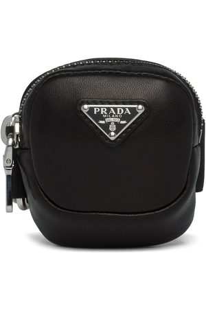 Prada Mini triangle-logo pouch