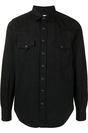 Saint Laurent Pointed collar Western denim shirt