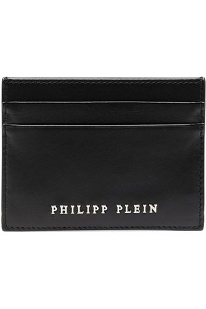 Philipp Plein Calf leather logo cardholder