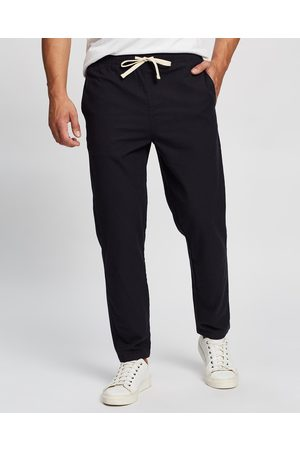 Staple Superior Men Pants - Seeker Linen Blend Pull On Pants - Pants (Navy) Seeker Linen Blend Pull On Pants