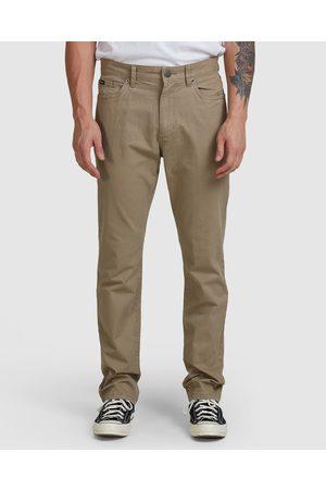 RVCA Daggers Twill Pants - Pants (WOOD) Daggers Twill Pants