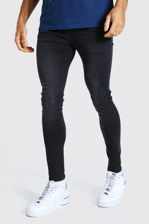 adidas Men Skinny - Mens Charcoal Super Skinny Stretch Jean